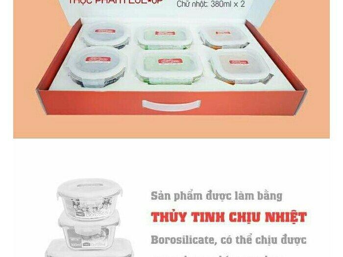 Bộ 6 hộp bảo quản thực phẩm L&L LLG205S6