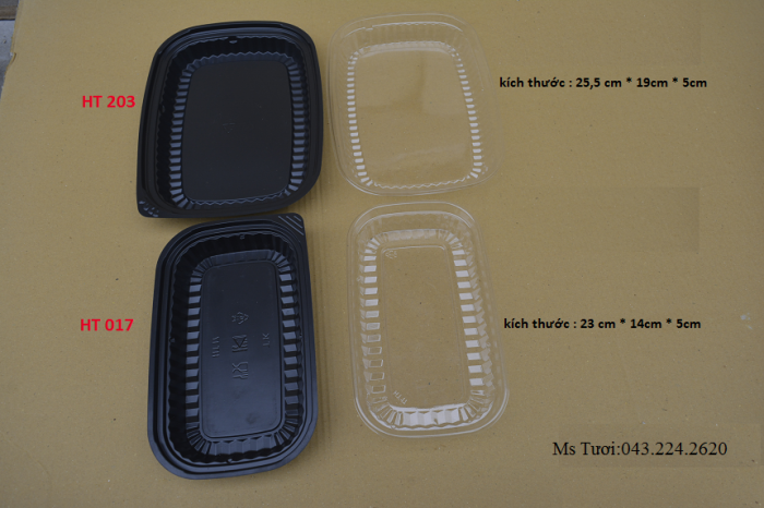 Hộp nhựa dùng một lần- Hộp nhựa kimchi- Hộp tròn, vuông microwave0