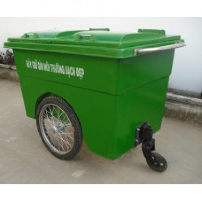 Bán thùng rác , xe đẩy rác 660 lít giá tốt.