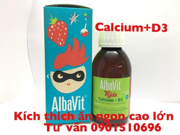 Albavit giúp trẻ ăn ngon cao lớn0
