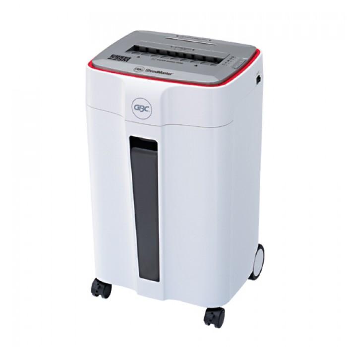 -Kiểu hủy: Hủy vụn A4 paper -Kích cỡ hủy: 2 x10 mm (micro cut) -Công suất hủy: 6-8 tờ (80gsm/A4) -Công suất hủy/phút :59 tờ/phút (80gsm/A4) -Hủy : CD, kim bấm, kim kẹp (khe hủy CD riêng) -Tốc độ hủy (m/ phút): 2.1 -Trả ngược giấy: CÓ -Thể tích thùng chứa: 20 lít  -Miệng hủy (mm):  228 mm (giấy) -Trọng lượng (Kg): 9.7 kg -Kích cỡ (mm): H518 x W368 x D291 -Xuất xứ: GBC (Japan  range)0