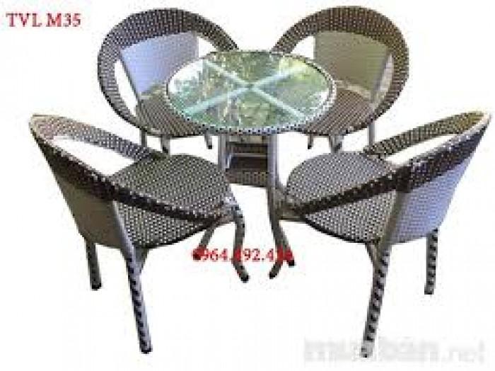 Bàn ghế nhựa giả mây dùng cho quán cafe giá rẻ nhất1