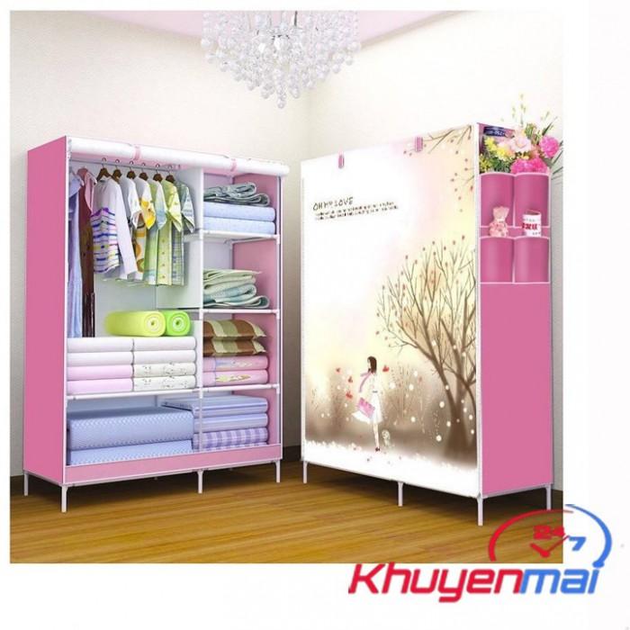 - Tủ vải cao cấp mẫu mới hoạt tiết 3D giúp tiết kiệm không gian nhà bạn.