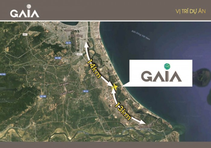 Tin hot! Đất biển nam Đà Nẵng trở lại giá trị thực - Khu đô thị Gaia - Liền kề Cocobay, 380tr/1 nền