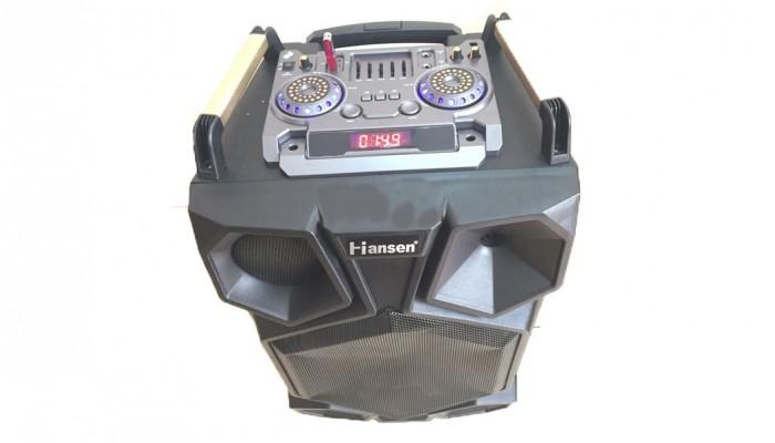 Điểm nhấn ở bộ loa Hansen C15T là hệ thống đèn led ở mặt trước nhấp nháy theo điệu nhạc khi bật nguồn lên.