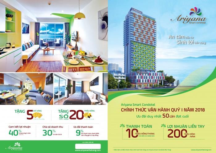 Condotel nhatrang đầu tư sinh lời 200tr/ năm + miễn phí 15 đêm nghỉ dưỡng tại resort 5*