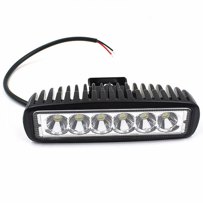 ĐÈN LED TRỢ SÁNG C6 1 TẦNG 6 LED THẲNG HÀNG 18W 0