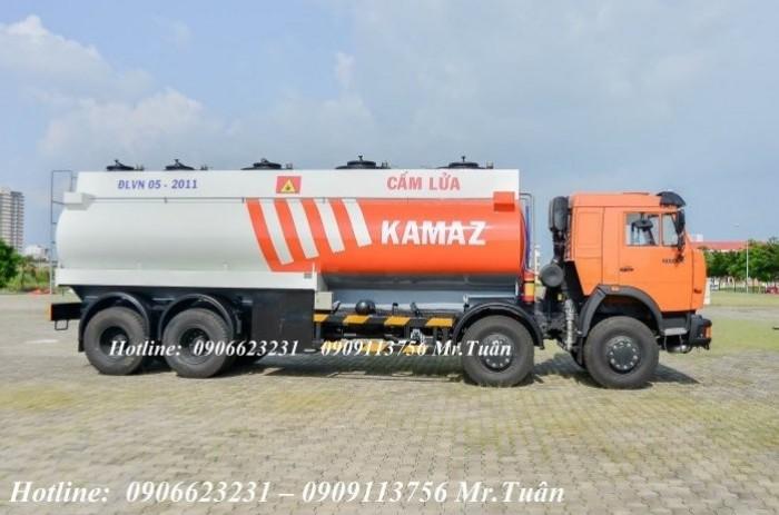 Xe bồn xăng dầu 6540 (8x4) thùng 23m3 xăng tại kamaz bình phước
