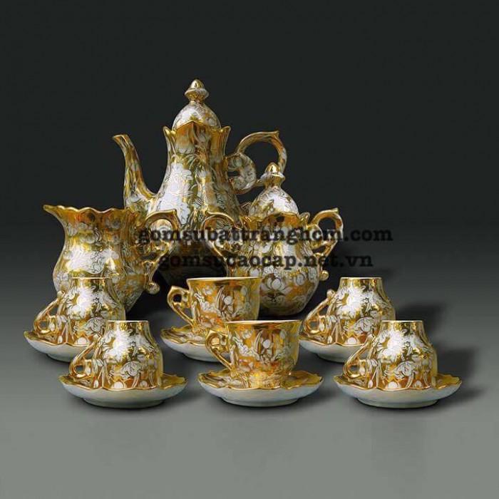 Ấm trà gốm Bát Tràng cao cấp - sang trọng - NPP Thái Sơn HCM