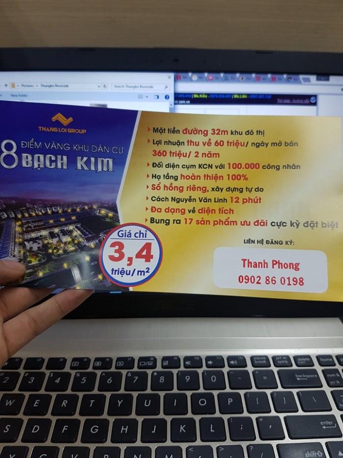 SỐC !!! Mở bán Block Đầu Tiên KDC Bạch Kim - Giá CHỈ 3,4 tr/m2 - SỔ HỒNG RIÊNG - Hạ Tầng Hoàn Thiện