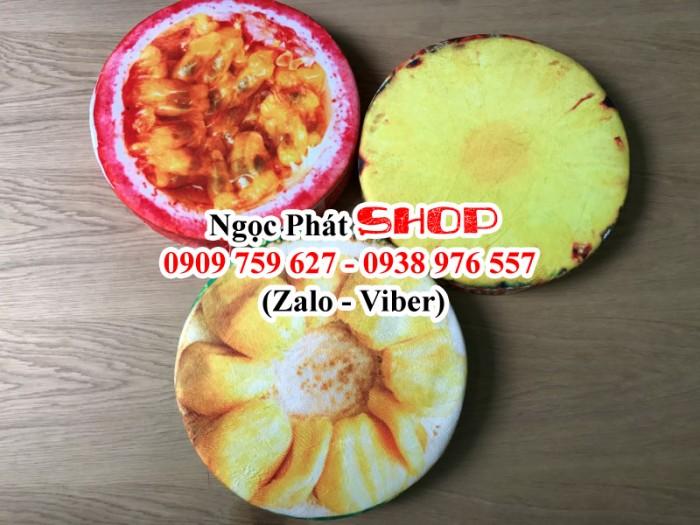 Gối, nệm ngồi trái cây 3D. Hot hot hot