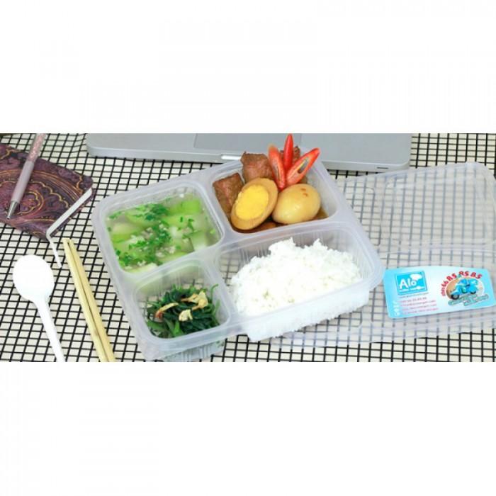 Hộp nhựa đựng shushi, Mỳ ý, hộp nhựa đựng cơm văn phòng dùng 1 lần tại Hà Nội3