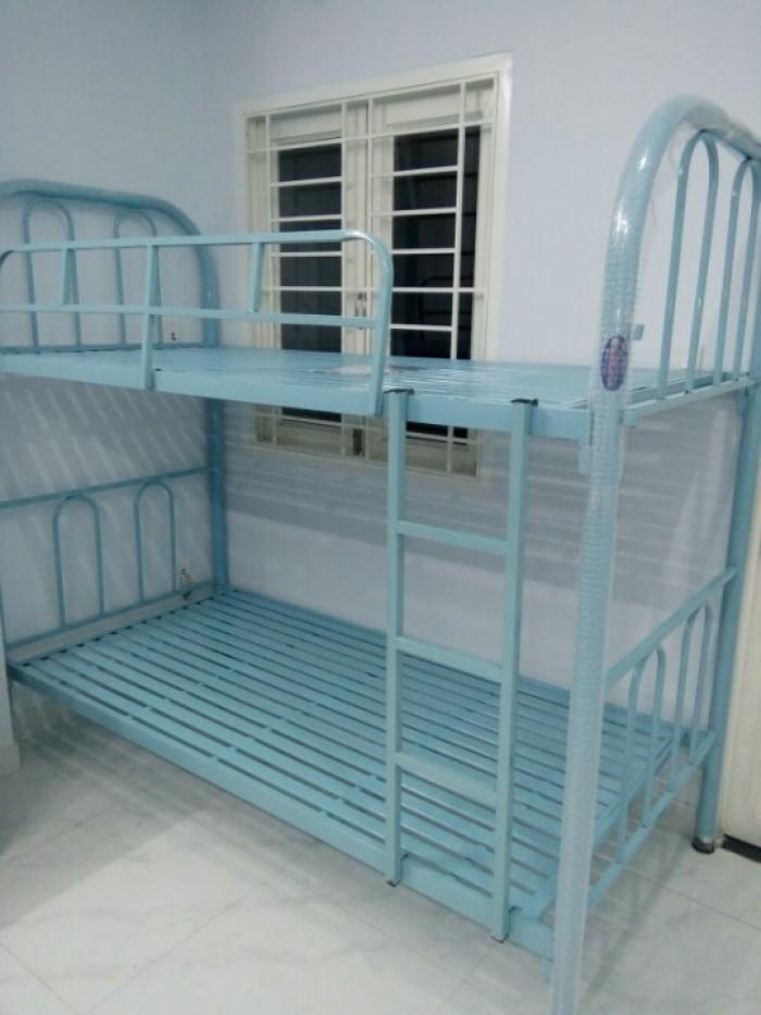 Giường sắt 2 tầng giá rẻ tầng 80cm x 2m tháo ráp thích hợp cho sinh viên, freeship HCM