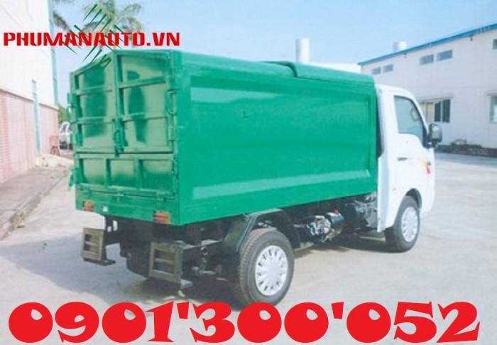 Xe Tải Thùng Ben Chở Rác Tata 1 tấn/ 3.4 khối thu gom rác tận cùng ngõ hẻm 1