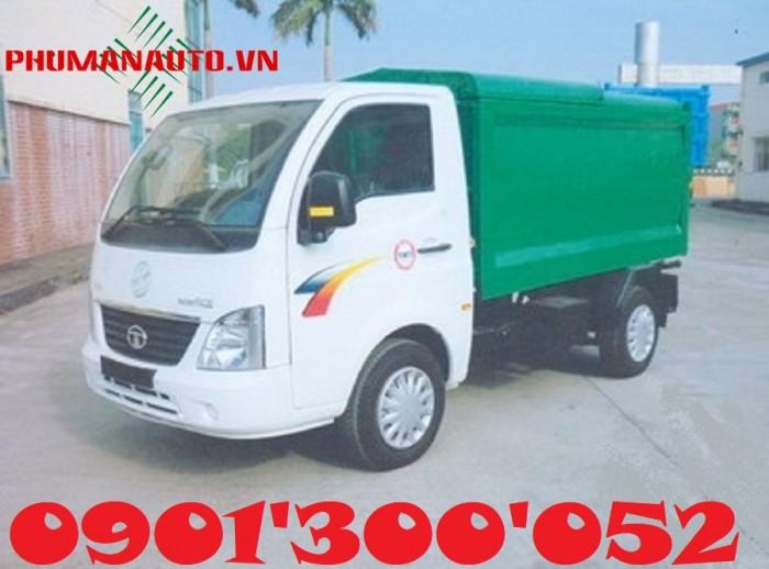 Xe Tải Thùng Ben Chở Rác Tata 1 tấn/ 3.4 khối thu gom rác tận cùng ngõ hẻm 0