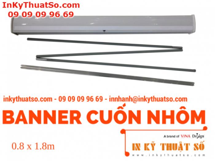 Banner Cuốn Nhôm thường 0.8m x 1.8m - Banner cuốn, Giá cuốn nhôm giá rẻ tại TPHCM