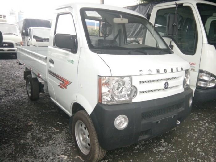 Xe tải nhẹ Dongben thùng lửng màu trắng