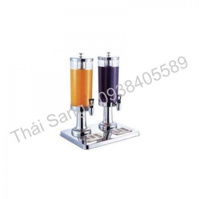BÌNH NƯỚC TRÁI CÂY 2 NGĂN + Mã: BF-BNTC-3L2N + Kích thước: (L)400x(W)300x(H)520mm + Chất liệu: Inox
