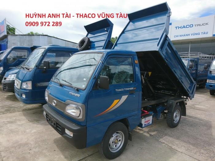 Trường Hải Vũng Tàu bán xe ben da su Thaco Towner 500 kg 750 kg trả góp 0