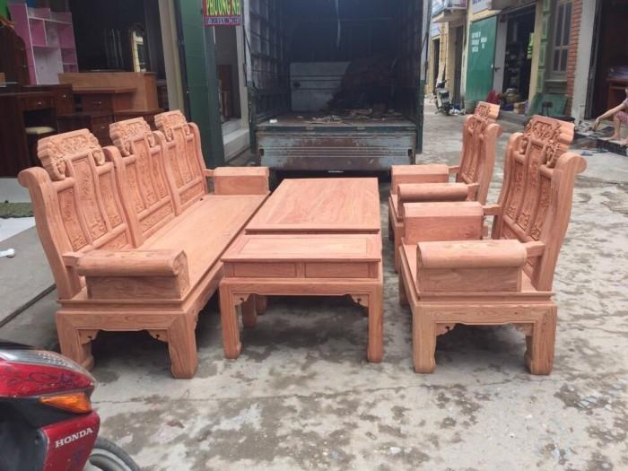 Bộ bàn ghế phòng khách âu á hộp kiểu như ý voi gỗ hương đá4