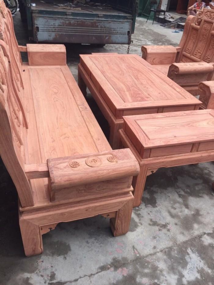 Bộ bàn ghế phòng khách âu á hộp kiểu như ý voi gỗ hương đá6