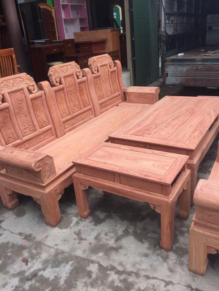 Bộ bàn ghế phòng khách âu á hộp kiểu như ý voi gỗ hương đá7