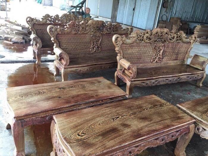 Bộ bàn ghế đồng kỵ kiểu hoàng gia gỗ mun đuôi công0