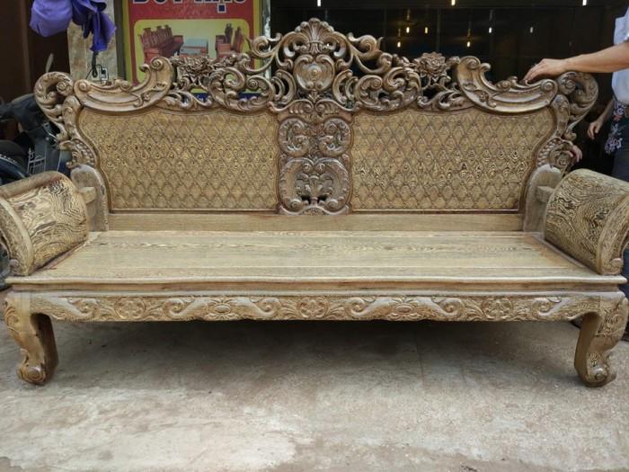 Bộ bàn ghế đồng kỵ kiểu hoàng gia gỗ mun đuôi công1