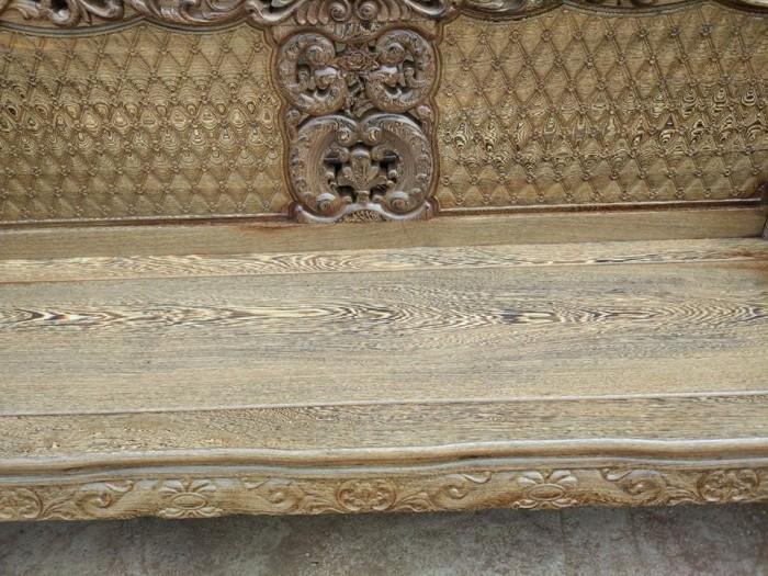Bộ bàn ghế đồng kỵ kiểu hoàng gia gỗ mun đuôi công3