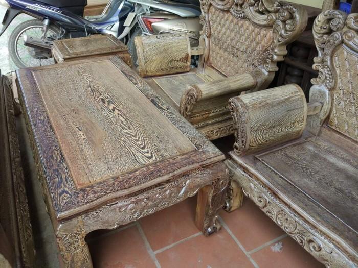 Bộ bàn ghế đồng kỵ kiểu hoàng gia gỗ mun đuôi công4