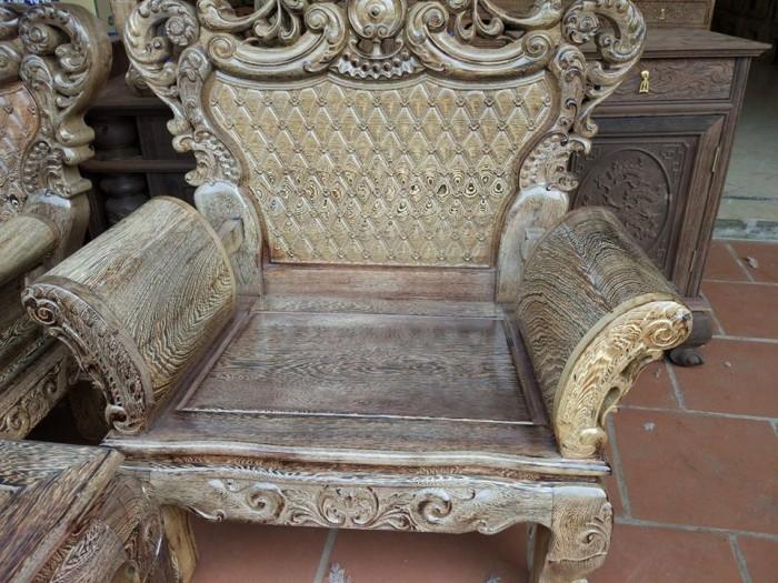 Bộ bàn ghế đồng kỵ kiểu hoàng gia gỗ mun đuôi công5