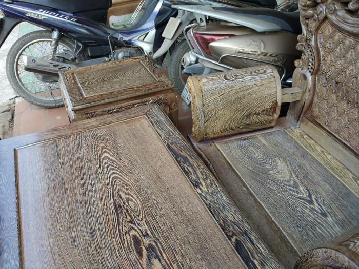 Bộ bàn ghế đồng kỵ kiểu hoàng gia gỗ mun đuôi công6