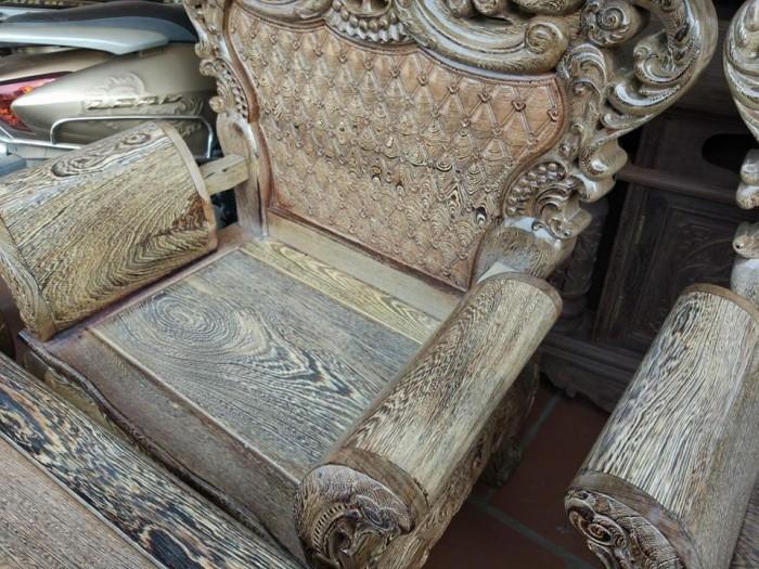 Bộ bàn ghế đồng kỵ kiểu hoàng gia gỗ mun đuôi công7