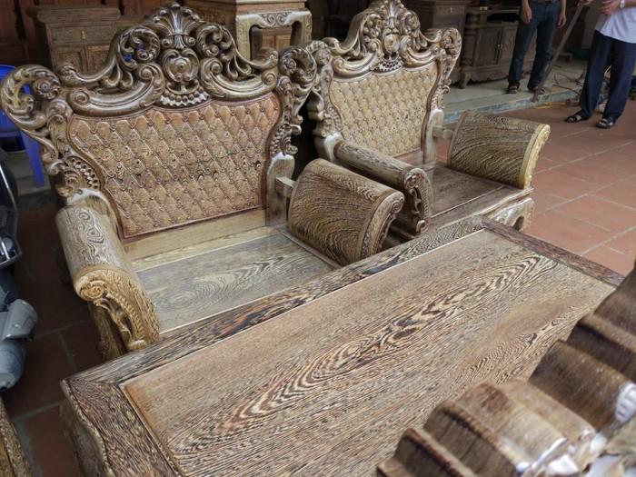 Bộ bàn ghế đồng kỵ kiểu hoàng gia gỗ mun đuôi công8