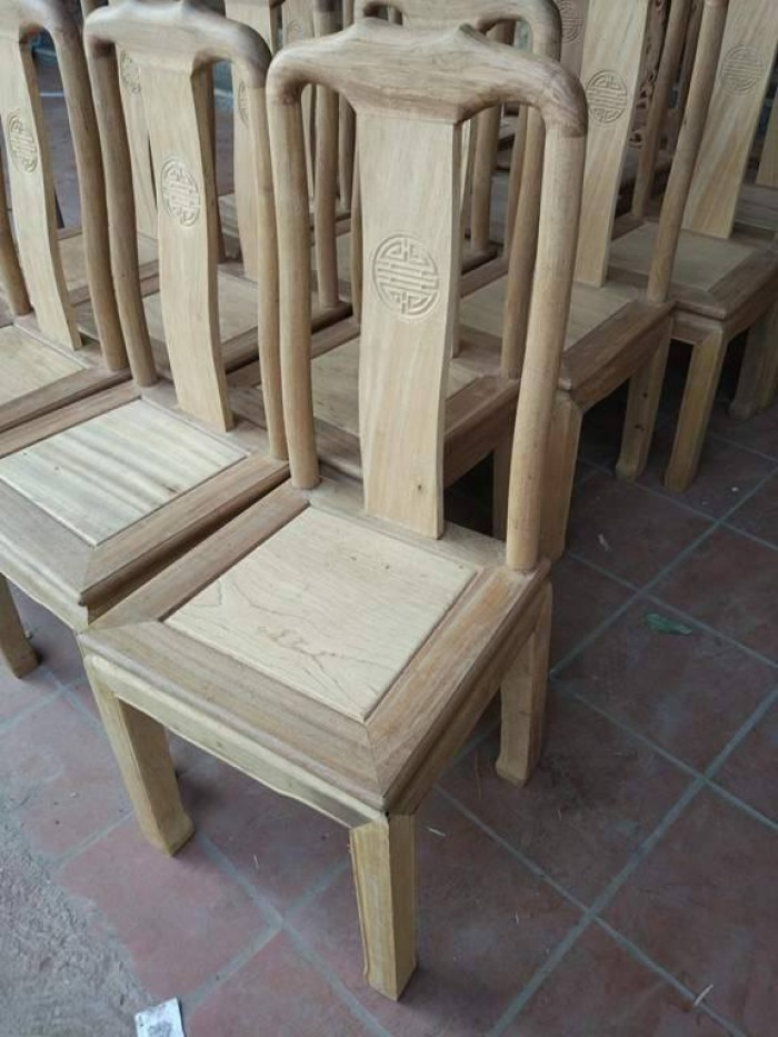 Bộ bàn ghế ăn kiểu bàn tròn gỗ gụ2
