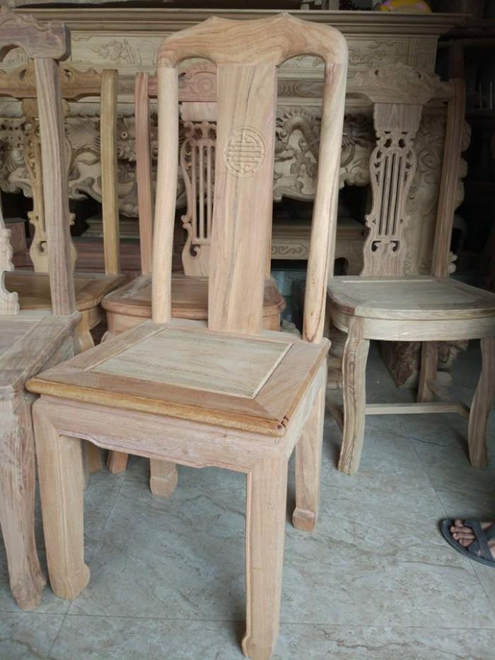 Bộ bàn ghế ăn kiểu bàn tròn gỗ gụ3