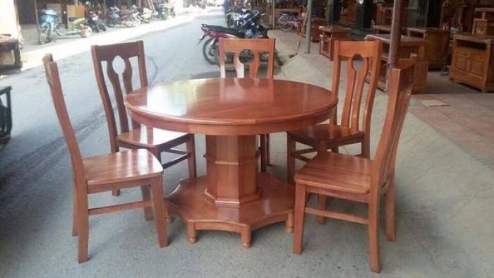 Bộ Bàn Ghế Phòng Ăn Kiểu Bàn tròn - gỗ xoan đào4