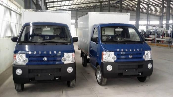 Bán xe tải thùng kín 770kg hãng dongben trả góp BÌnh Dương