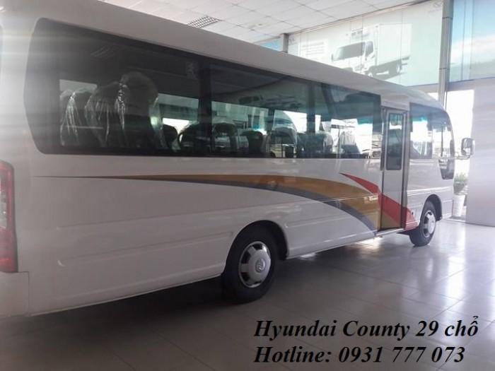 Xe Khách Hyundai County, vay trả trước 200 triệu, giao xe trong vòng 5 ngày