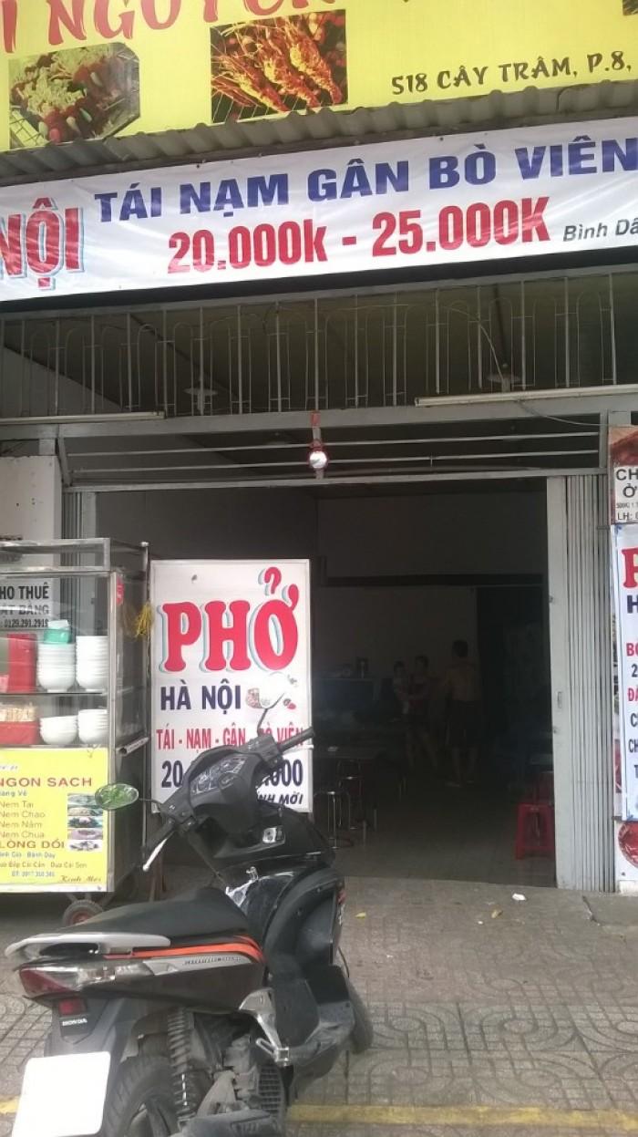 Cho thuê mặt bằng mặt tiền đường Cây Trâm, phường 9 - Quận Gò Vấp