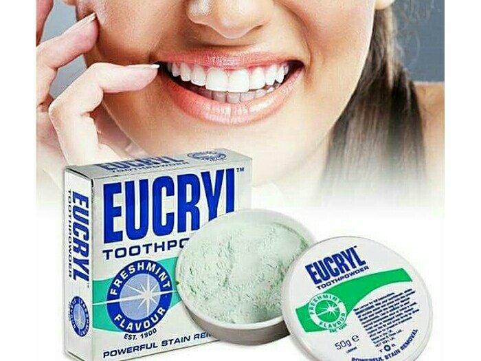 Bột Làm Trắng Răng Eucryl Tooth Powder0
