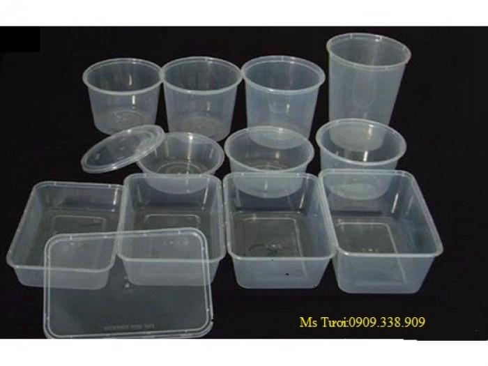 Hộp nhựa 1 ngăn, Hộp nhựa 4 ngăn đựng cơm văn phòng1