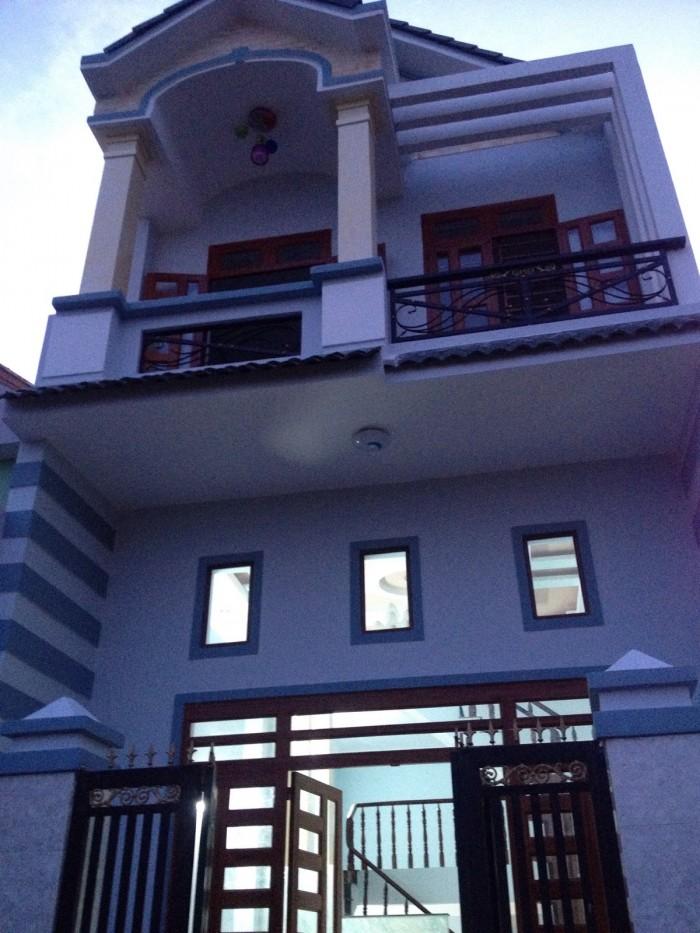 Nhà Bán SHR, 1 lầu mới 100%, giá 410 nhận nhà, Gò Đen giáp Bình Chánh