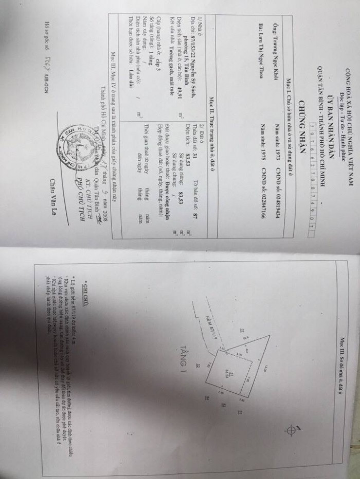 HXH 87 Nguyễn Sỹ Sách,p.15, Tân Bình, 7x10 nở hậu 13m, 85m2, 2,95 tỷ TL