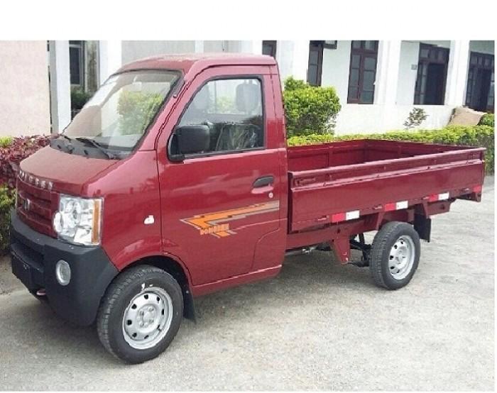 Giá bán xe tải Dongben 870kg thùng lửng ( màu đỏ ) - Bình Dương