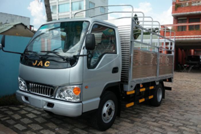 xe tải jac thùng bạt màu xám
