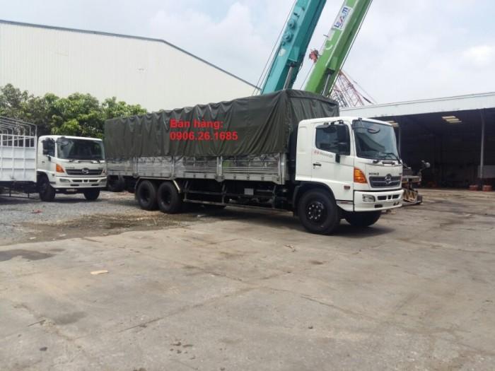 Giá xe tải Hino 15 tấn/16 tấn/15T/16T Đại lý bán xe tải Hino 15 tấn/16 tấn/15 tan 3 chân thùng dài 7,6m và 9,2m 1