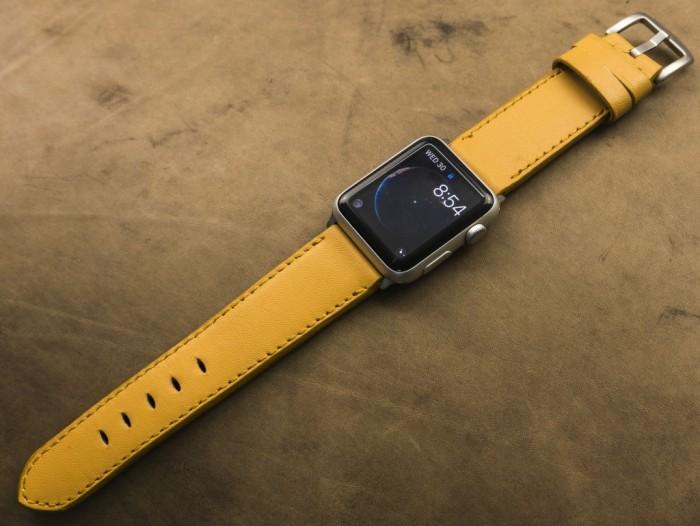 Dây đồng hồ da bò Handmade của Thi Atelier cho Apple Watch2