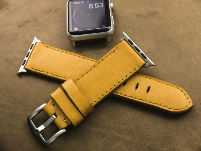 Dây đồng hồ da bò Handmade của Thi Atelier cho Apple Watch0