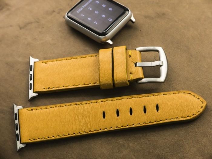 Dây đồng hồ da bò Handmade của Thi Atelier cho Apple Watch1